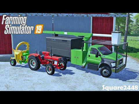 Tree Services   New F750 Tree Truck   Wood Chipper   Farming Simulator 19