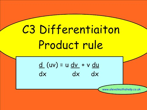 C3 Product rule - Differentiation - A2 - alevelmathshelp