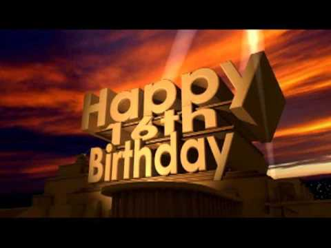 Happy 16th Birthday Youtube