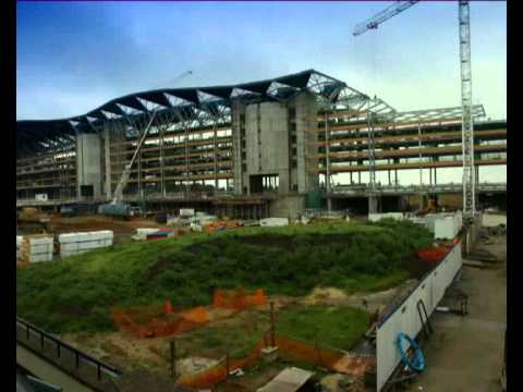 Time-lapse recording of the construction of Ascot Racecourse grandstand in 2006