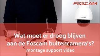 Foscam  - Droog monteren buiten camera's