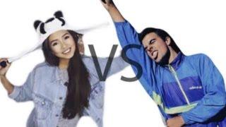 KAZAKH VS SPANISH |Challenge Try not to laugh and  popcorn challenge!