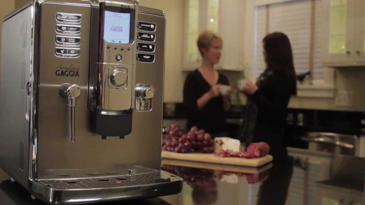 Accademia Gaggia Coffee Maker : Gaggia Accademia Super-Automatic Espresso Machine - YouTube