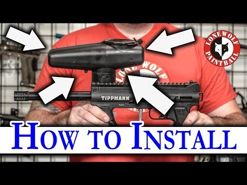 How To Install A Cyclone Feed System On A Tippmann 98 Custom Or Alpha Black Paintball Marker