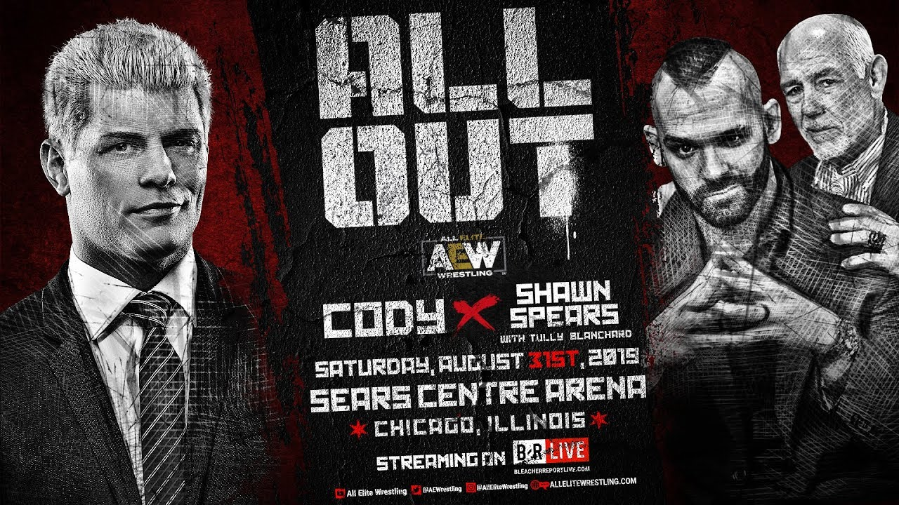 AEW All Out - Cody vs Shawn Spears Live on Pay Per View this Sat, August 31st - 8e/5p