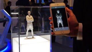 Demonstration of Panasonic's Light ID tech #PanasonicCES 2016