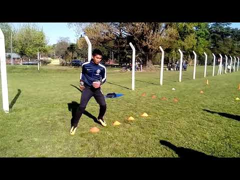 Arqueros Deportivo Merlo (entrada en calor)