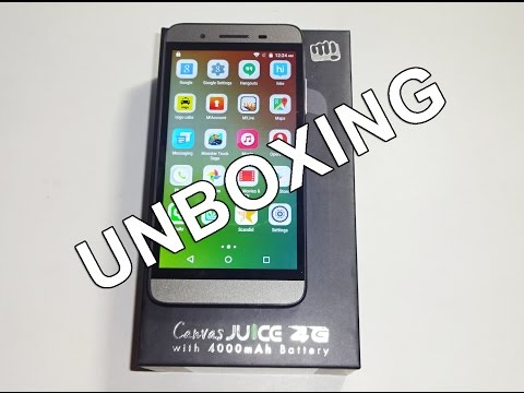 Micromax Canvas Juice 4G Unboxing