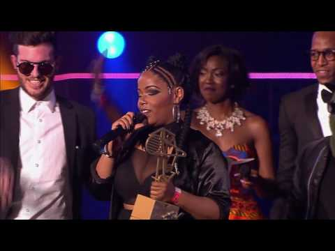 Shekhinah and Kyle Deutsch win award for Best Pop act at the MTV Africa Music Awards