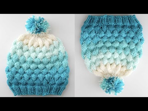 Bubble Beanie Hat Pattern For Knitters