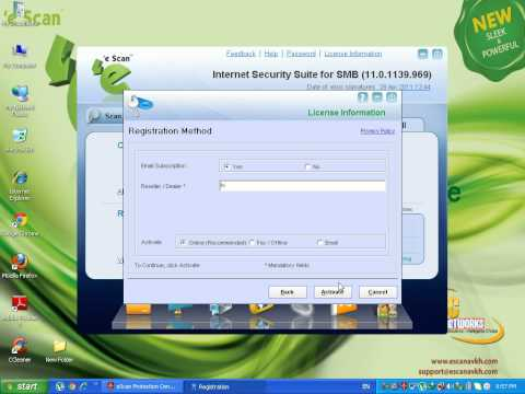 How To Activated License EScan