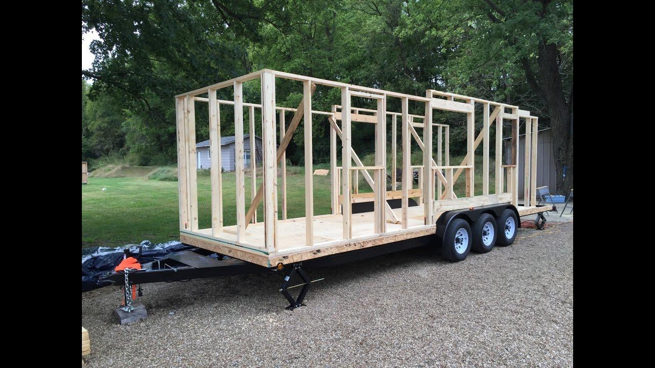 Tiny House Build Step 4 Wall Framing And A Tumbleweed