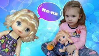 Funny doll does not obey | Baby Alive in videos for kids | Risha Arisha