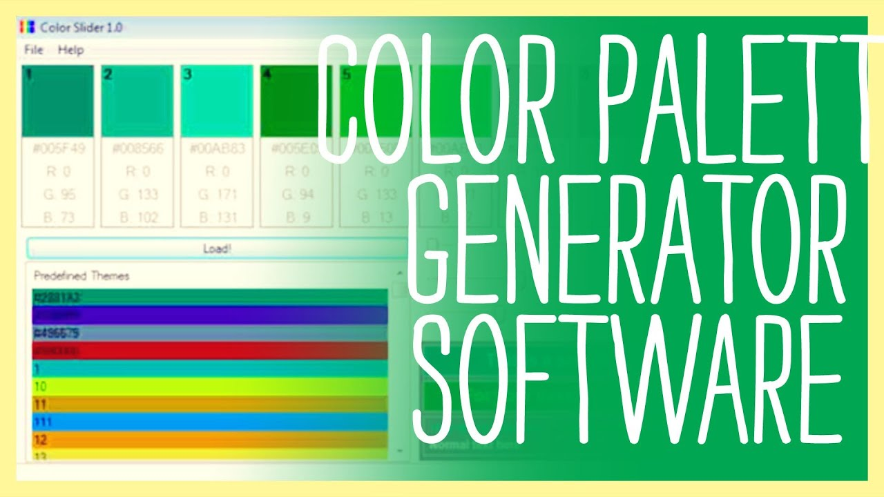 Color Palette Generator Software - You have to see this! - YouTube