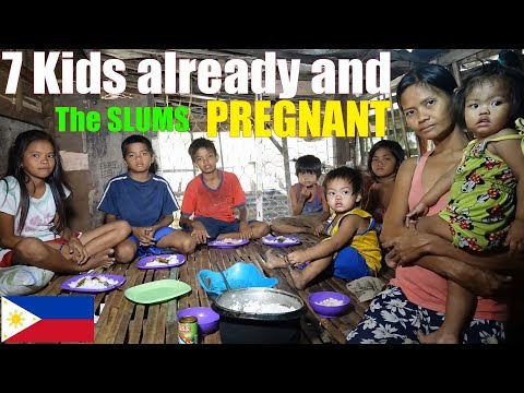 A Poor Filipino Family Living in Extreme Poverty in Manila Philippines. Life in the Philippine Slums