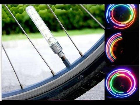 2X 32 LED Mountain Bike Flashlight Cycling Wheel Rainbow Colorful Spoke Light