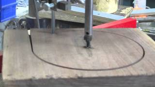 Circle Cutter Turning Blanks On A Bandsaw