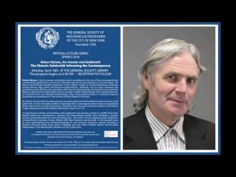 Robert Baines - Artisan Lecture Series