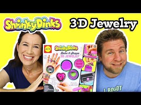 Shrinky Dinks Bake & Shape 3D Jewelry By Alex