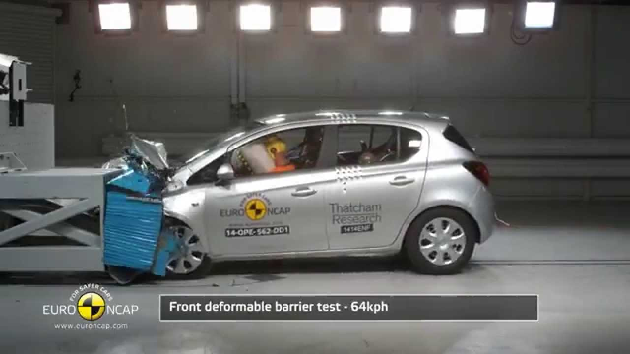 euro ncap crash test of opel vauxhall corsa 2014 youtube. Black Bedroom Furniture Sets. Home Design Ideas