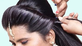 Simple & cute hairstyle with trick || Wedding hairstyles | hairstyles | New hairstyles for girls