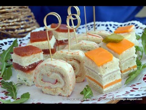Canap s frios y variados con pan de molde 3 canap s for Canapes faciles y baratos