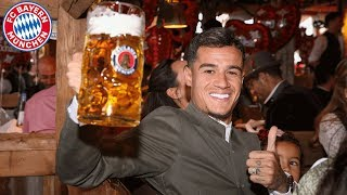 Coutinho, Pavard & Hernandez: 1st time at Oktoberfest with FC Bayern!