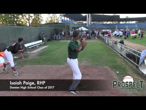 Isaiah Paige Prospect Video, RHP, Damien High School Class of 2017
