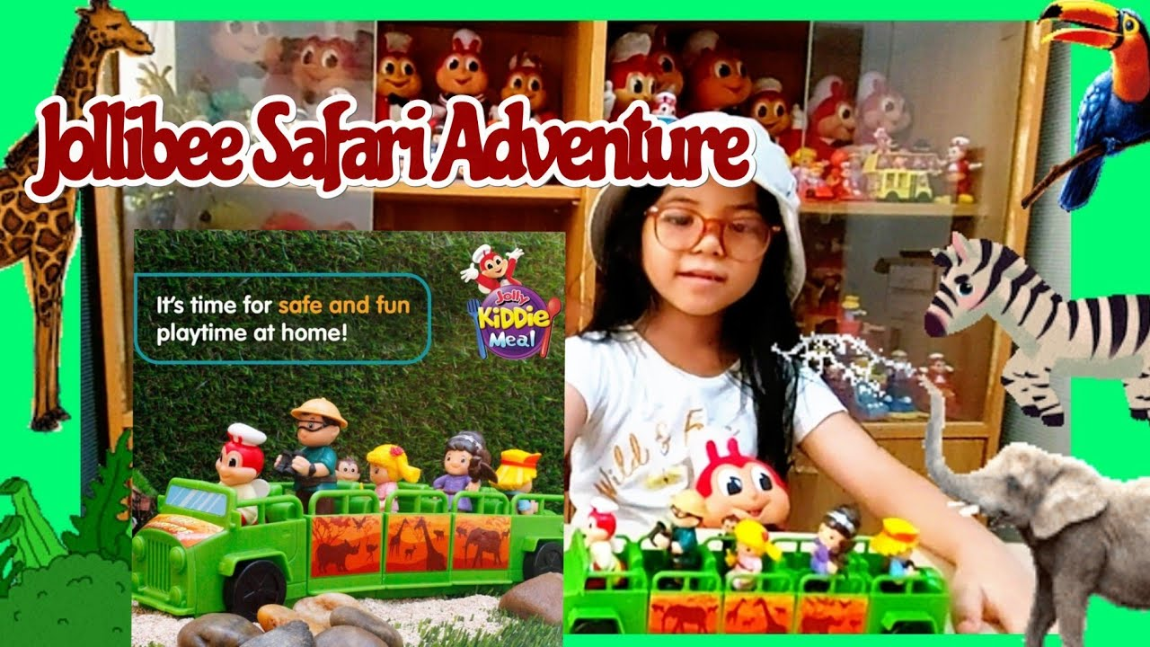 Lets Unbox And Play With The New Jollibee Jolly Kiddie Meal Safari Adventure 2021 Youtube