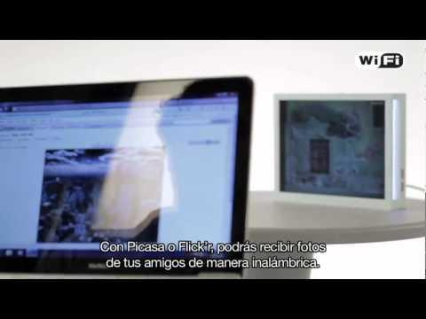 Marco de fotos digital con Wi Fi y Bluetooth ® - YouTube