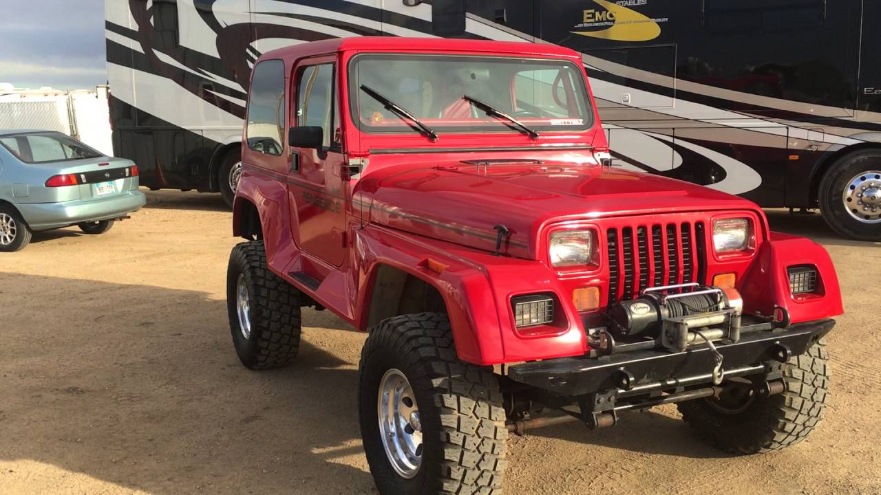 Jeep Wrangler Unlimited For Sale >> Jeep Wrangler YJ Renegade Sahara Sport Recap of Complete Jeep for Sale One of a Kind - YouTube