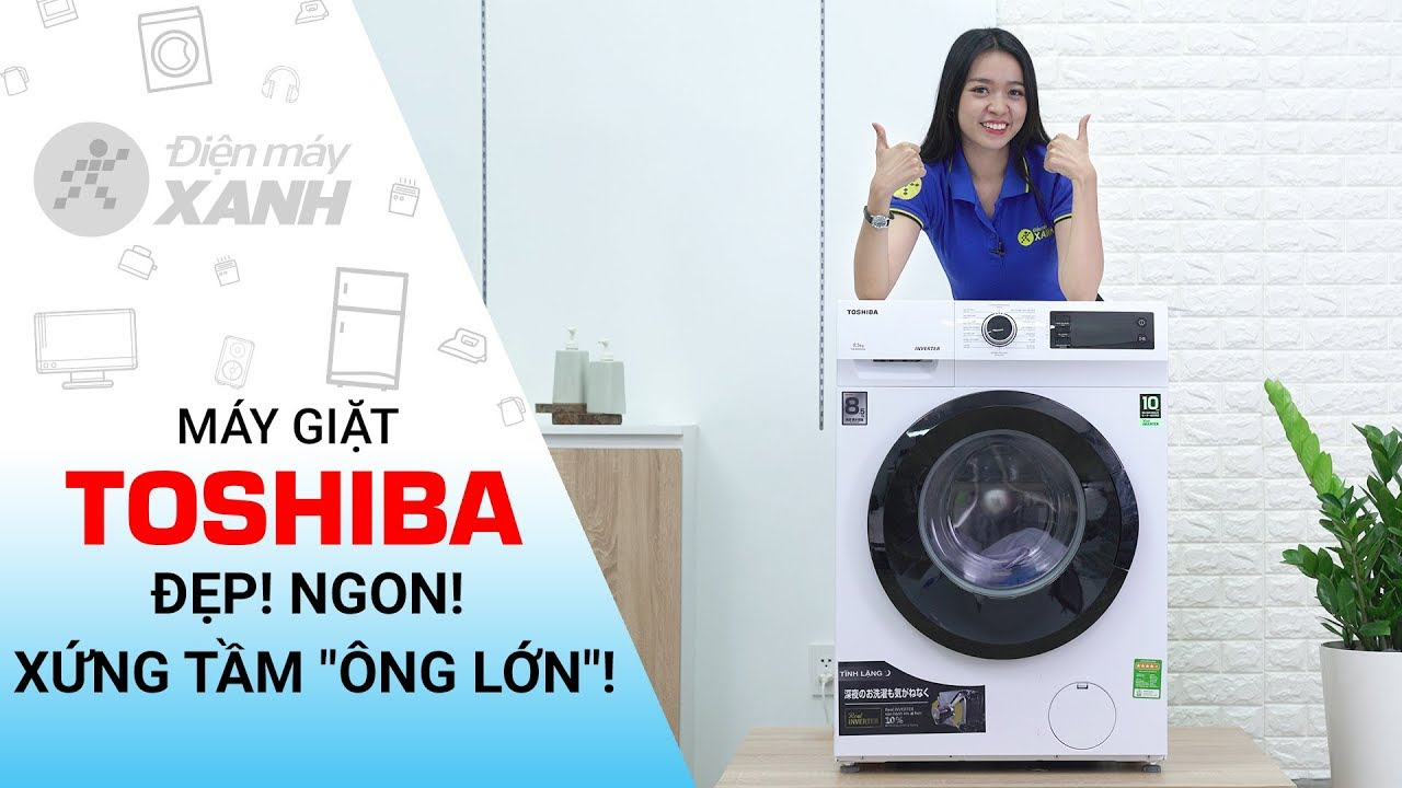 Máy giặt lồng ngang Toshiba Inverter 8.5 Kg: rất đáng để lựa chọn (TW-BH95S2V WK)   Điện máy XANH