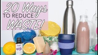 20 WAYS TO REDUCE WASTE | Easy Sustainable Lifestyle Hacks | Zero Waste for Beginners | The Edgy Veg thumbnail