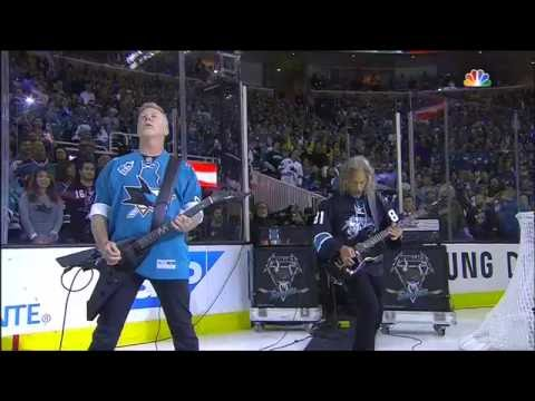 Metallica performs national anthem at the Stanley Cup Final