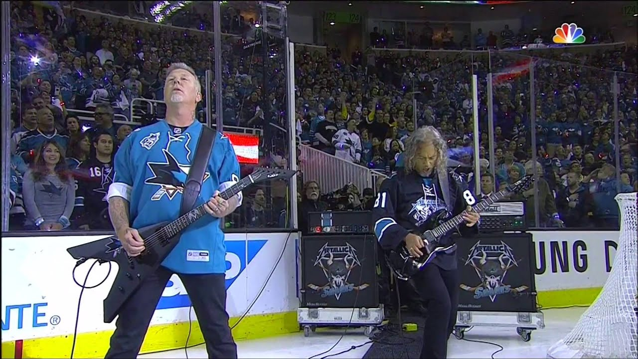 Metallica performs national anthem at the Stanley Cup ...