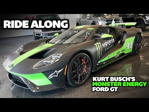 Driving In Kurt Buschs Personal Monster Energy Ford Gt