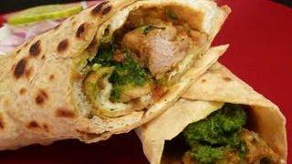 Chicken Kathi Roll (Chicken Frankie) Indian Recipe