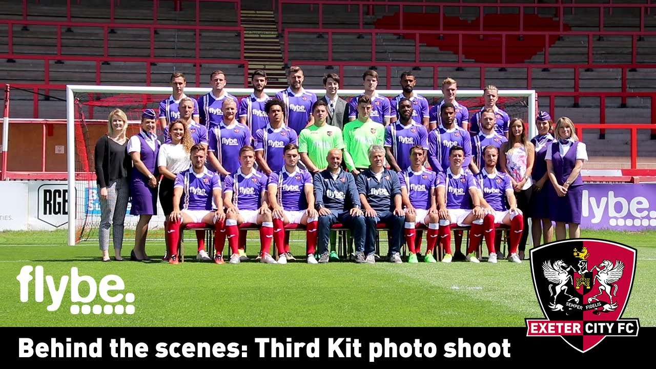 Behind the scenes of City's third kit photo shoot | Exeter ...