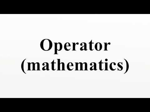 Operator (mathematics)