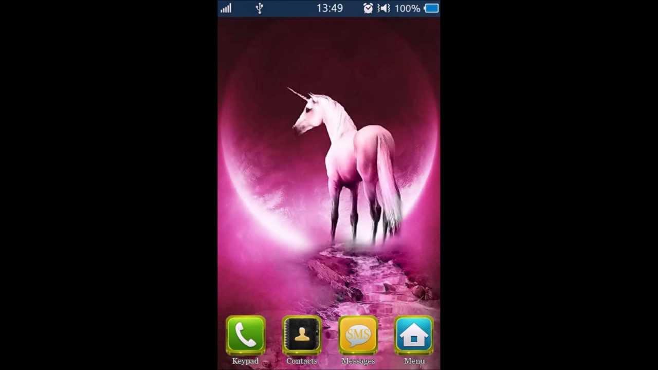 Hd Bada 20 Flash Theme Live Wallpaper Pink Unicorn