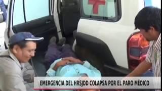 EMERGENCIAS DEL HRSJDD COLAPSA POR PARO MÉDICO