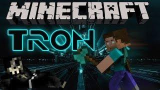 "Minecraft TRON Mini-Game Gameplay | w/ Taz & AciDic Blitzz | ""I Was Born For This"""