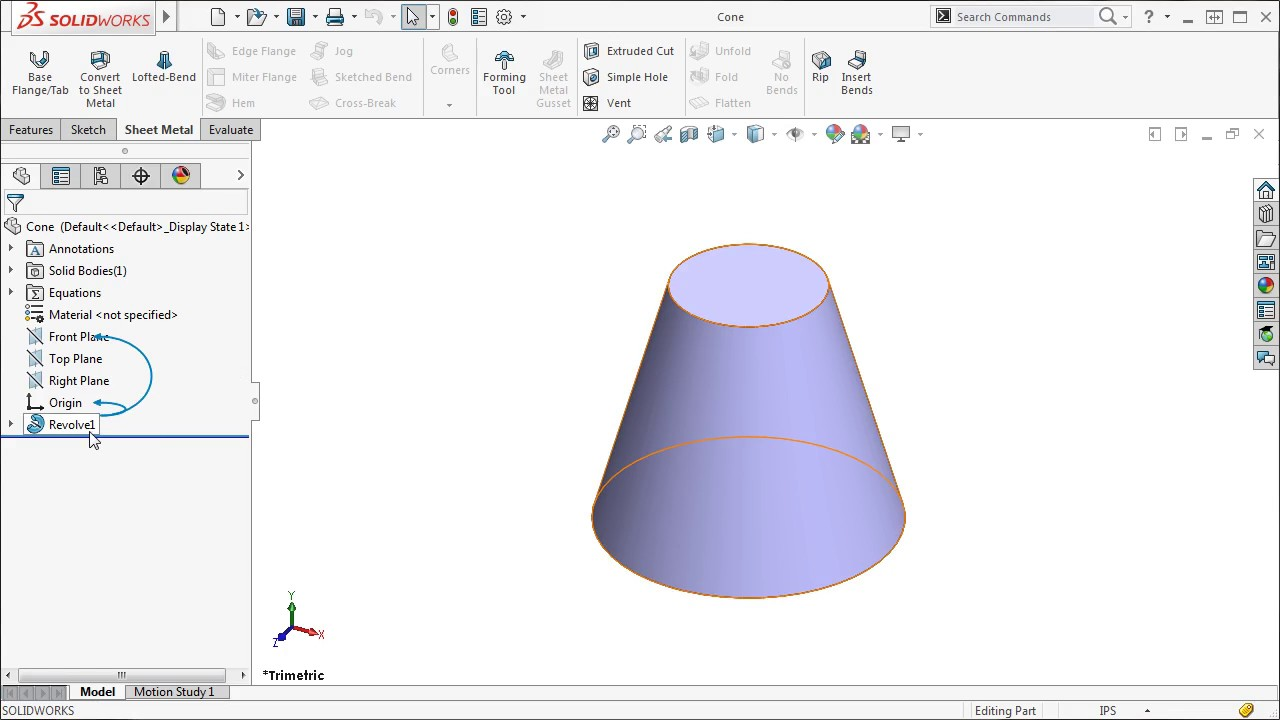 Cones And Cylinders In Solidworks 2016 Youtube