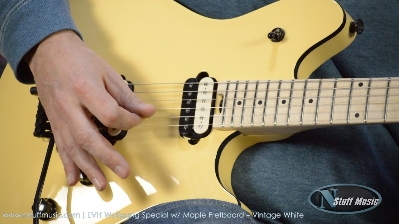 ea55a94c512 EVH Wolfgang Special with Maple Fretboard - Vintage White - YouTube