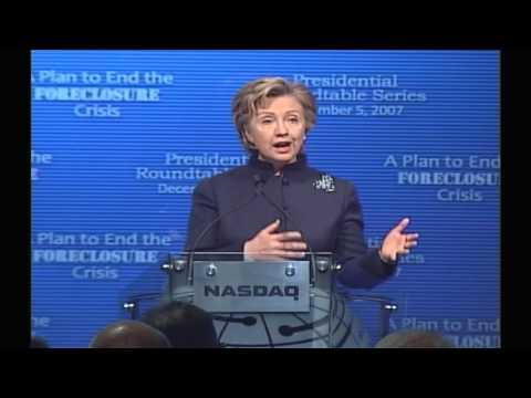 Hillary Clinton's Speech to Nasdaq (Dec. 5, 2007)