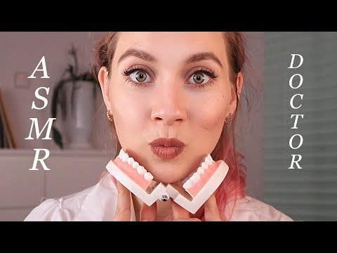 ASMR School DOCTOR Check up - Dental EXAMINATION - Gloves sounds, Close up , Soft spoken, Accent