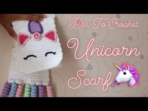 How To Crochet Cute Unicorn Scarf Ever Part 1 For Beginner