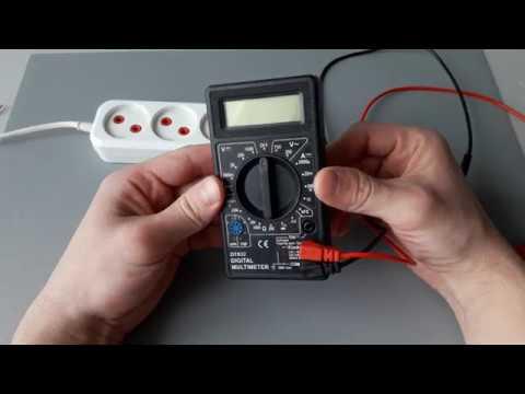 Как измерить напряжение в розетке с помощью мультиметра