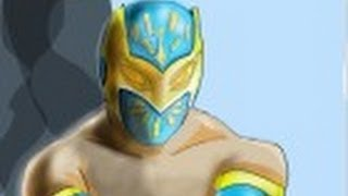 How to draw Sin Cara from WWE