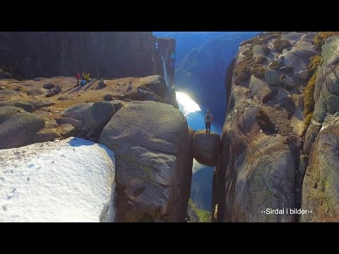 Kjerag from the air - viral drone video from Norway (100 million views on Facebook)